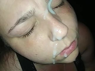 White M.I.L.F Gets Her Face Blasted With Huge Cum Load