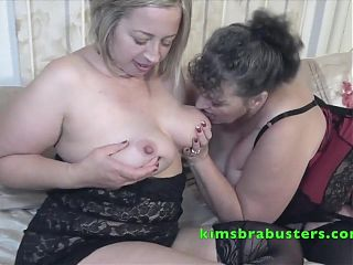 Busty British lesbians Kim and Shooting Star