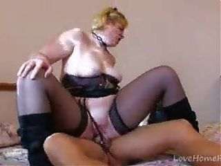 Mature lady flogged with her husbands friend
