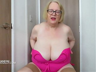 Sally gets out of her pink tankini